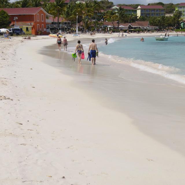 """""""Pineapple Beach Club, Long Bay, Antigua, Leeward Islands, West Indies,..."""" stock image"""