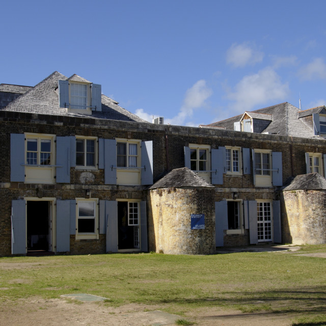 """Hotel at Nelsons Dockyard, Antigua, Leeward Islands, West Indies, Caribbean,..."" stock image"