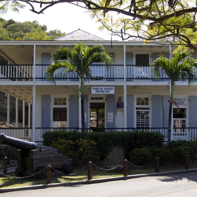 """Dockyard Museum, Nelsons Dockyard, Antigua, Leeward Islands, West Indies,..."" stock image"