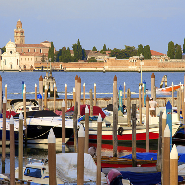 """Churchyard, Isola san Michele, seen from Fondamente Nuove, Venice, UNESCO..."" stock image"