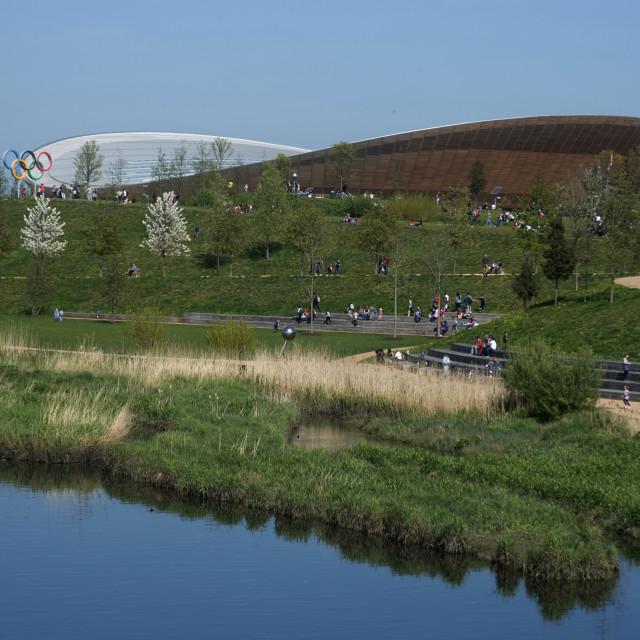 """The Velodrome, Queen Elizabeth Olympic Park, Stratford, London, E20, England,..."" stock image"