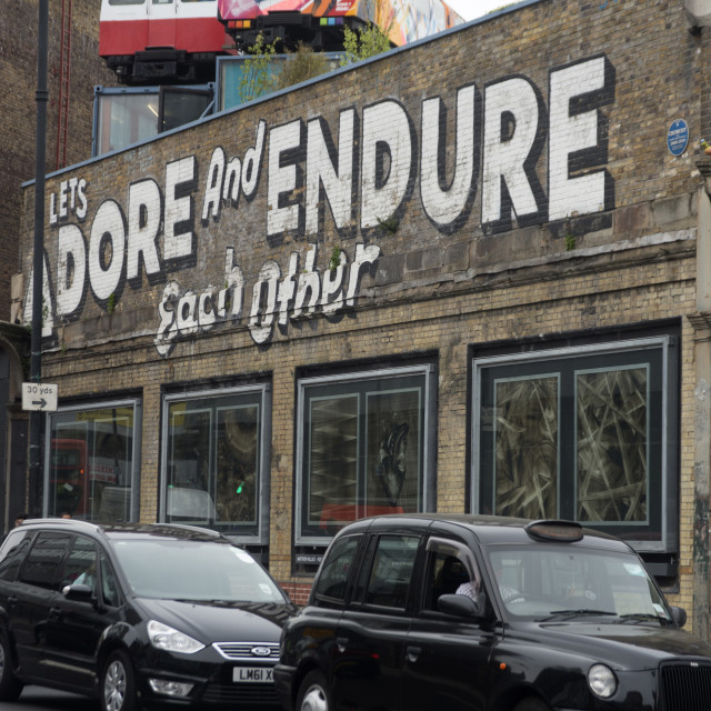 """Great Eastern Street, London, E1, England, United Kingdom, Europe"" stock image"