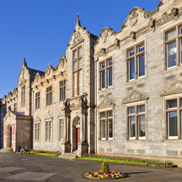 """St. Salvator's Hall College entrance, St. Andrews University, St. Andrews,..."" stock image"