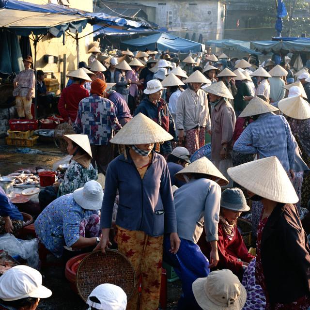 """The market, Hoi Han (Hoi An), Vietnam, Indochina, Southeast Asia, Asia"" stock image"
