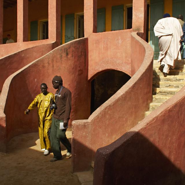 """The Slave House, Island of Goree, UNESCO World Heritage Site, Senegal, West..."" stock image"
