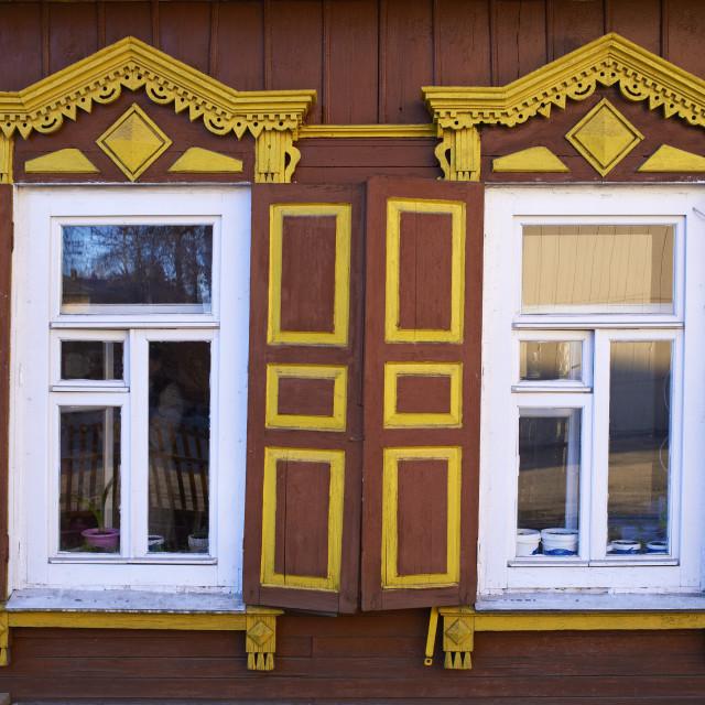 """Wooden architecture, Irkutsk, Siberia, Russia, Eurasia"" stock image"