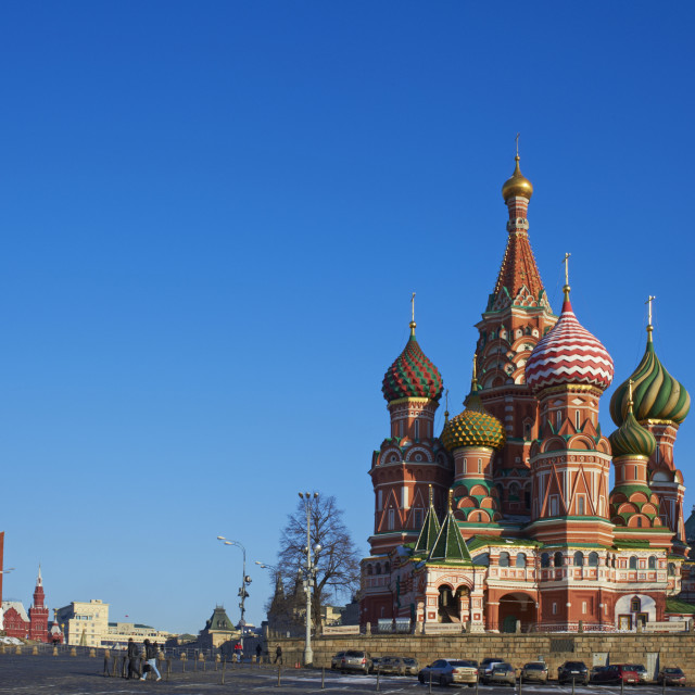 """""""St. Basil's Cathedral, Red Square, UNESCO World Heritage Site, Moscow,..."""" stock image"""