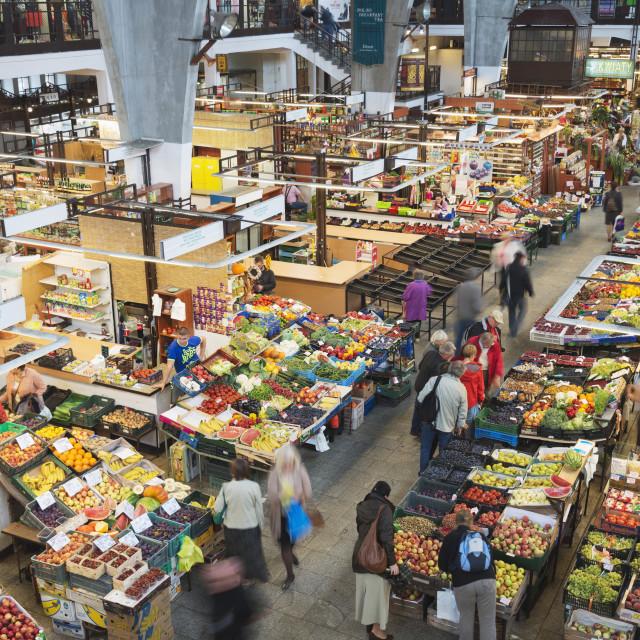 """Hala Targowa market hall, Wroclaw, Silesia, Poland, Europe"" stock image"