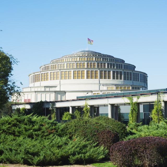 """Centennial Hall, UNESCO World Heritage Site, Wroclaw, Silesia, Poland, Europe"" stock image"