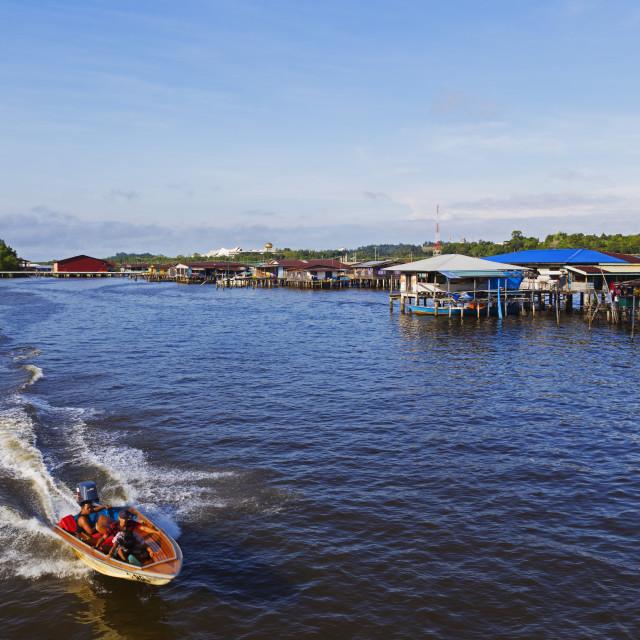 """""""Kampung Ayer water village, Bandar Seri Begawan, Brunei, Borneo, Southeast..."""" stock image"""