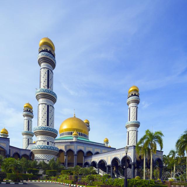"""""""Jame'asr Hassanal Bolkiah Mosque, Bandar Seri Begawan, Brunei, Borneo,..."""" stock image"""