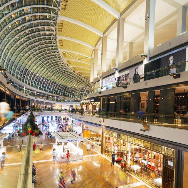 """Marina Bay Sands Mall, Singapore, Southeast Asia, Asia"" stock image"