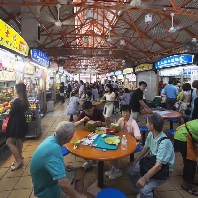 """Hawker food court, Little India, Singapore, Southeast Asia, Asia"" stock image"