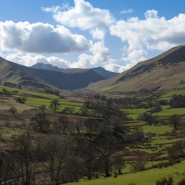 """""""Newlands Valley, above Portinscale, Keswick, Northern Lakes, Lake District..."""" stock image"""