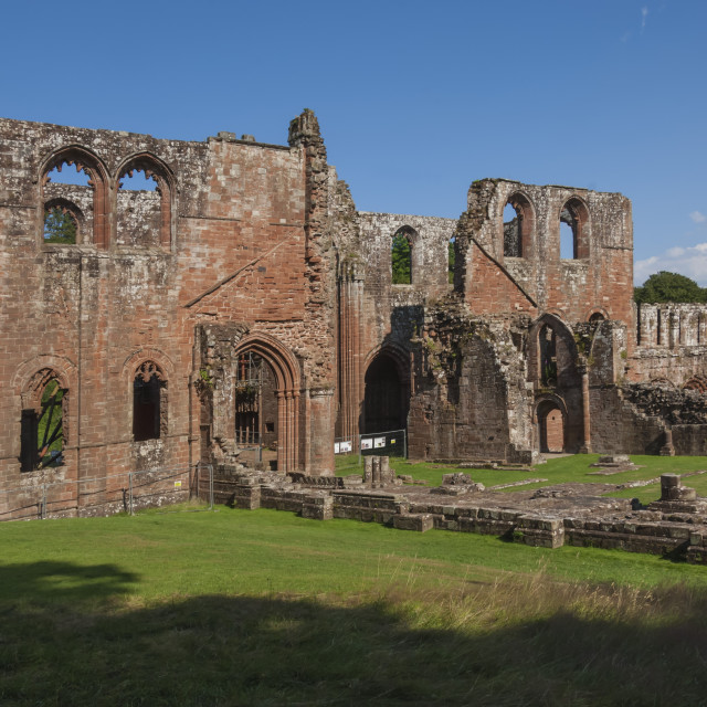 """The 12th century St. Mary of Furness Cistercian Abbey, Cumbria, England,..."" stock image"