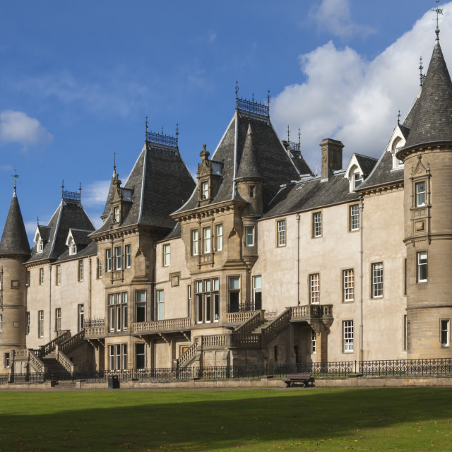 """Callendar House, a 19th Cent Mansion in French Renaisence Style, Falkirk,..."" stock image"