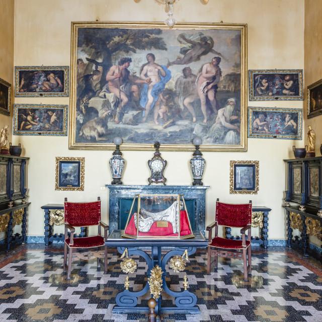 """The Borromeo's Palace on Isola Bella, Borromean Islands, Lake Maggiore,..."" stock image"