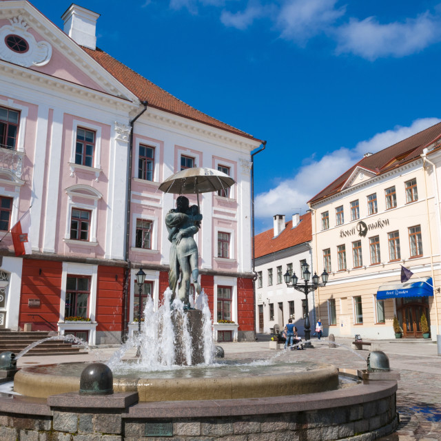 """Raekoja Square (Raekoja plats), Tartu, Estonia, Baltic States, Europe"" stock image"