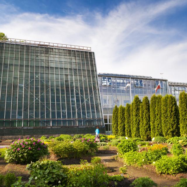 """Botanical Gardens of the University of Tartu, Tartu, Estonia, Baltic States,..."" stock image"