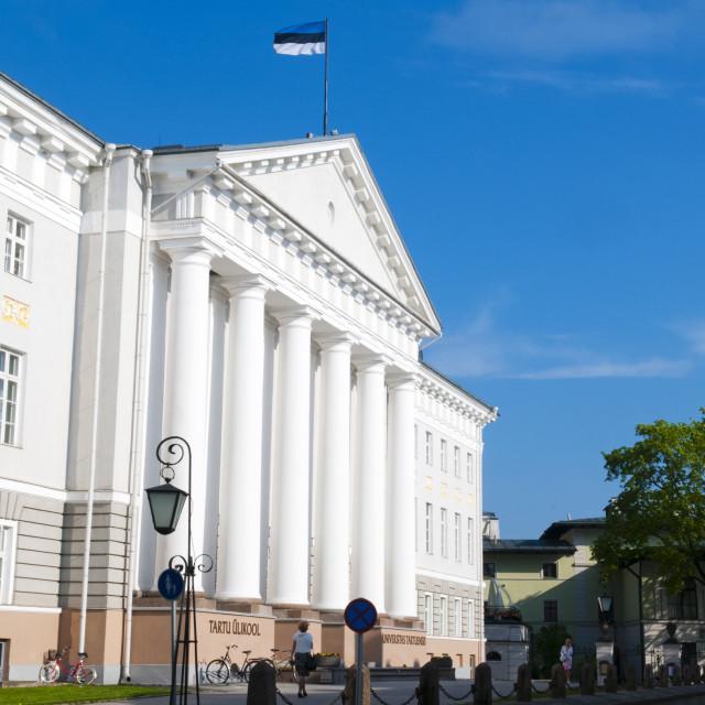 """""""Tartu University, Tartu, Estonia, Baltic States, Europe"""" stock image"""