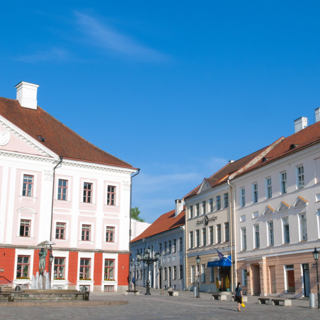 """Town Hall, Raekoja Square (Raekoja Plats), Tartu, Estonia, Baltic States, Europe"" stock image"