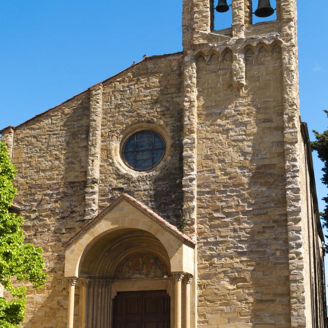 """San Domenico Church dating from the 14th century, Arezzo, Tuscany, Italy, Europe"" stock image"