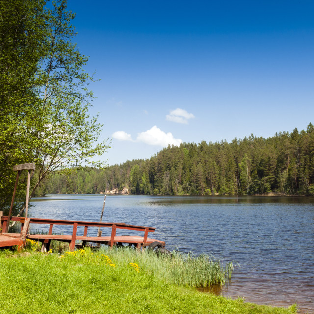 """Taevaskoda Nature Reserve, Ahja River, Polva County, Estonia, Baltic States,..."" stock image"