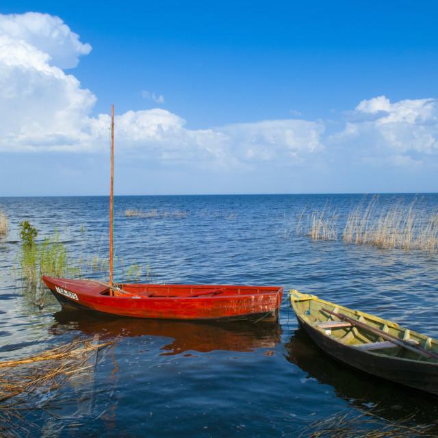 """""""Lake Peipus (Lake Peipsi), Estonia, Baltic States, Europe"""" stock image"""