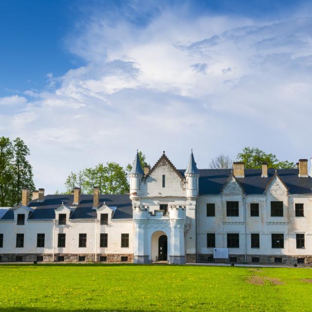 """Alatskivi Loss (Castle), Tartu county, Estonia, Baltic States, Europe"" stock image"