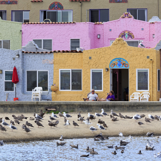 """Venetian Village, Capitola, Santa Cruz County, California, United States of..."" stock image"