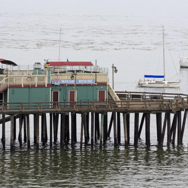 """Wharf, Capitola, Santa Cruz County, California, United States of America,..."" stock image"