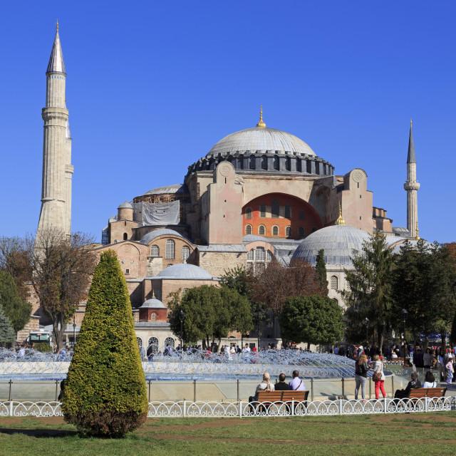 """Haghia Sophia, UNESCO World Heritage Site, Sultanahmet District, Istanbul,..."" stock image"