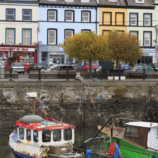 """Fishing boats, Cobh Town, County Cork, Munster, Republic of Ireland,Europe"" stock image"