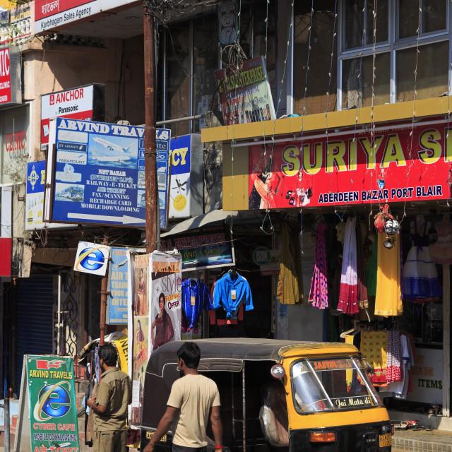 """Street scene in Port Blair, Andaman Islands, India, Asia"" stock image"