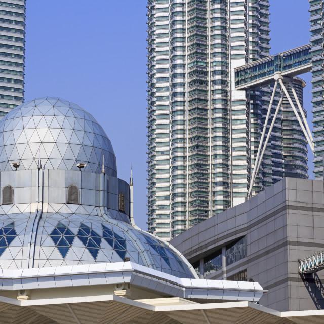 """Syakirin Mosque, Kuala Lumpur, Malaysia, Southeast Asia, Asia"" stock image"