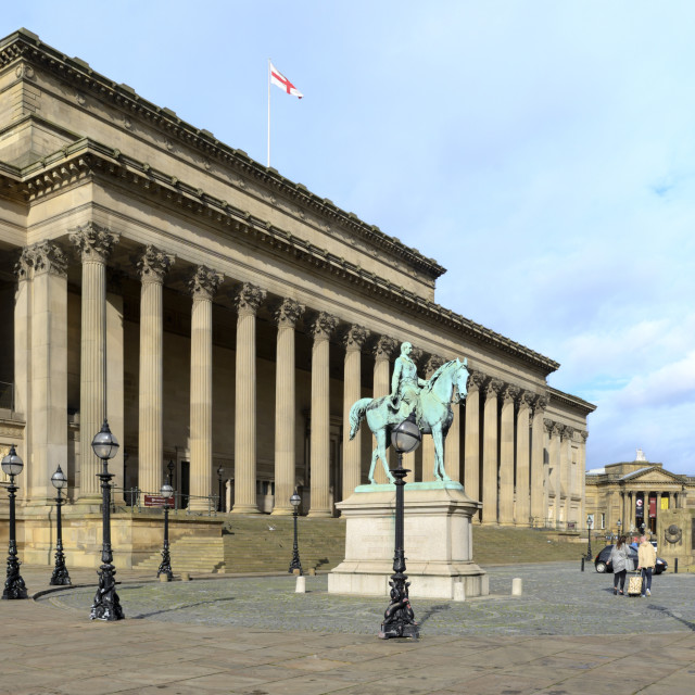 """St George's Hall, St George's Place, Liverpool, Merseyside, England, United..."" stock image"