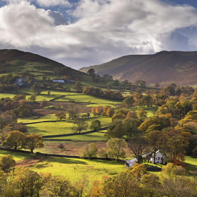"""""""Newlands Chapel nestled in the beautiful Newlands Valley, Lake District,..."""" stock image"""