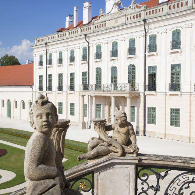 """""""Esterhazy Palace, Fertod, Western Transdanubia, Hungary, Europe"""" stock image"""