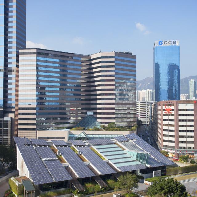 """""""Zero Carbon Building, Kowloon Bay, Kowloon, Hong Kong, China, Asia"""" stock image"""