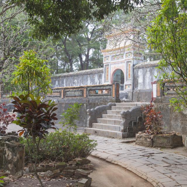 """Tomb of Tu Duc, UNESCO World Heritage Site, Hue, Thua Thien-Hue, Vietnam,..."" stock image"
