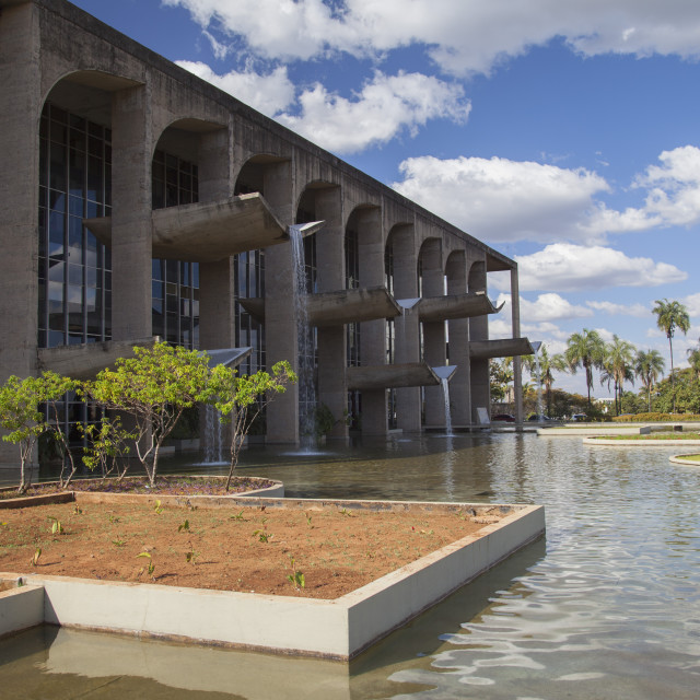 """""""Palace of Justice, UNESCO World Heritage Site, Brasilia, Federal District,..."""" stock image"""