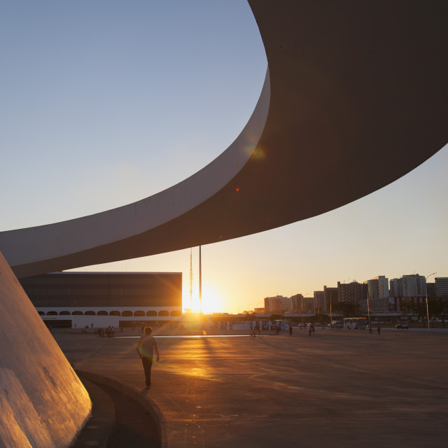 """""""National Museum, Brasilia, Federal District, Brazil, South America"""" stock image"""