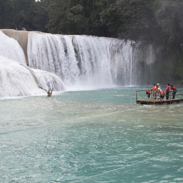 """""""Mexico, Chiapas, near Palenque, Rio Tulija, Parque Nacional de Agua Azul,..."""" stock image"""