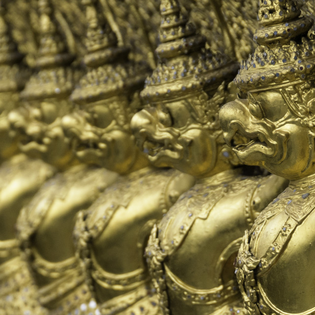"""""""Detail of the Temple of the Emerald Buddha (Wat Phra Kaew), the Royal Palace,..."""" stock image"""