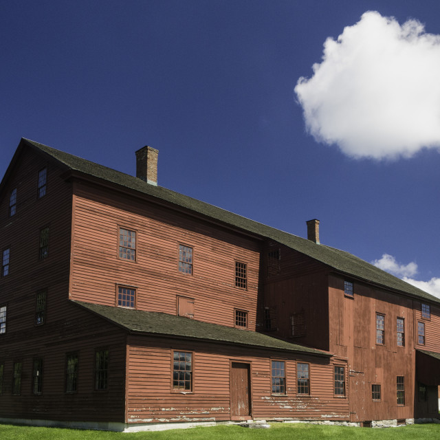 """""""The laundry machine building at the Hancock Shaker Village"""" stock image"""
