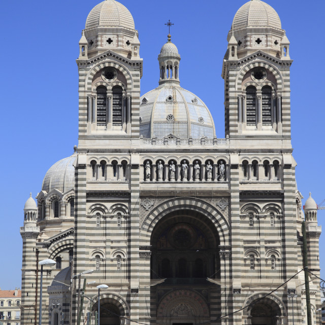 """Marseille Cathedral (Cathedrale de la Major) (Sainte Marie Majeure),..."" stock image"