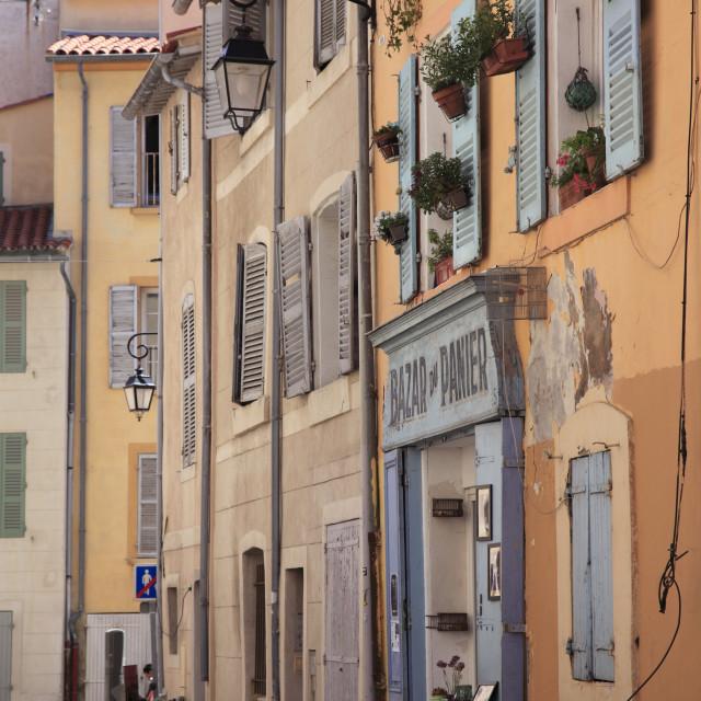 """Shop, Le Panier District, Old Town, Marseille, Bouches du Rhone, Provence..."" stock image"