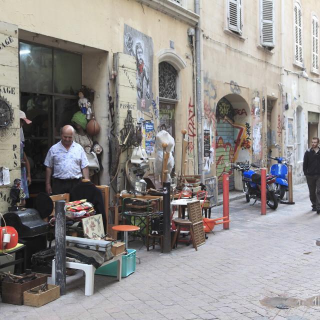 """""""Shop, Cours Julien, Hip District, Marseille, Bouches du Rhone, Provence Alpes..."""" stock image"""