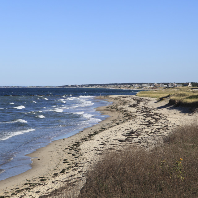 """Town Neck Beach, Cape Cod Bay, Sandwich, Cape Cod, Massachusetts, New..."" stock image"