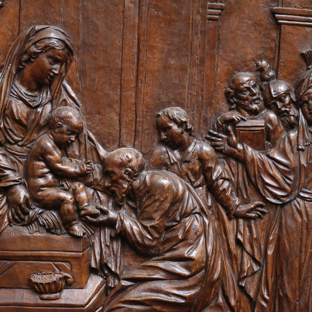 """""""The Presentation of Jesus at the Temple, Karlskirche (St. Charles's Church),..."""" stock image"""